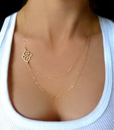 So pretty!!! Love it Double Strand Necklace Gold or Silver Modern by GlassPalaceArts, $48.00
