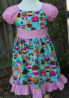Cupcake Peasant 2 4 6 by fluffygirlboutique on Etsy, $36.99