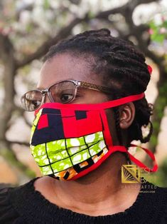 FABRIC FACE MASK, African Print Face Mask, Ankara Face Mask, 100% Cotton Washable Reusable Face Mask with Filter Pocket, Shaped Mask FM1003 Masquerade, Ankara, Oakley Sunglasses, Filter, Masks, Cotton Fabric, African, Pocket, Face