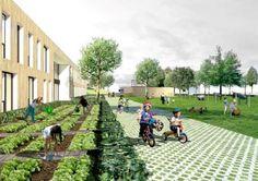 Architectura - CREPAIN BINST ARCHITECTURE ontwerpt passiefschool in parkgebied Oude God in Mortsel / VK ENGINEERING