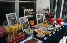 Doing the hot dog bar for Carter's party but LOVE the corn on the cob on a stick as well. MUST DO.