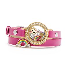 The Origami Owl Trolls rainbow slider is the perfect addition for your Trolls inspired leather wrap bracelet.