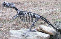 Dinosaur Metal Sculpture Megalosaurus by rustaboutcreations