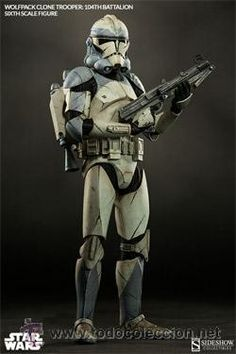 Star Wars Wolfpack Clone Trooper: Battalion Sixth Scale Figure by Sideshow Collectibles Star Wars Clones, Star Wars Clone Wars, Rpg Star Wars, Star Trek, Star Wars Characters Pictures, Images Star Wars, Star Wars Pictures, Star Citizen, Sideshow Star Wars