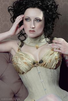 Corset with cups. By Electra Designs