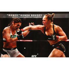 Pyramid America Rowdy Ronda Rousey Womens Bantamweight Champion Official UFC 190 Reebok Black Gear Stance Pose Poster 24x36 inch
