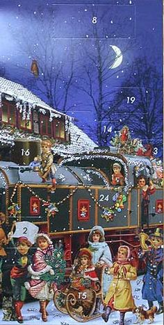 Victorian style German advent calendar