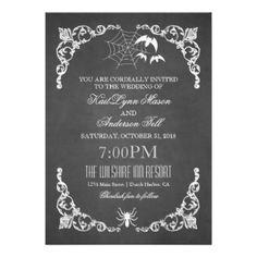 DIY Halloween Wedding decorations | Halloween Wedding Invitations ...