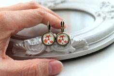 Pretty fox and mushroom earrings sweet lolita by DinaFragola