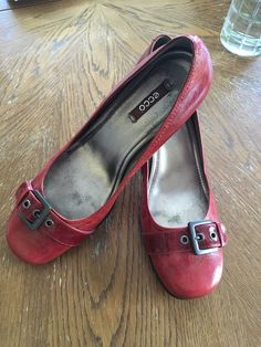 8421a93778d Ecco Hannah Buckle Womens Leather Pumps Red Size 10.5 (EU 41)  fashion   clothing  shoes  accessories  womensshoes  heels (ebay link)