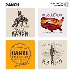 Ranch - TheVectorLab Store Signage, Affinity Photo, Affinity Designer, Graphic Design Software, Photoshop Illustrator, Coreldraw, One Design, Graphic Design Inspiration, Logo Templates