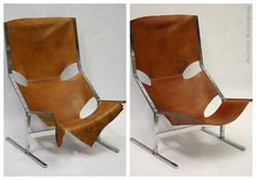 Upholstery design chair. Before and after picture. Made by MaartWerk.