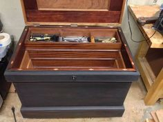 My Anarchists Tool Chest, Finally, Almost, will never really be complete. but a slow continuation Tool Box On Wheels, Old Tool Boxes, Wooden Tool Boxes, Workbench Plans Diy, Shop Storage, Shop Organization, Storage Ideas, Woodworking Hand Tools, Woodworking Bench