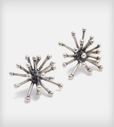 Silver Jacks earrings by Mikinora on Scoutmob Shoppe. Edgy yet sophisticated. Playful yet refined. Jewelry yet... can we use 'em in a game, too?