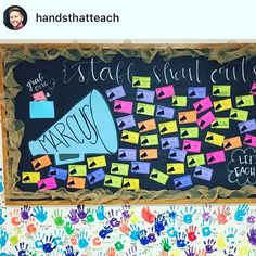 I love how the shoutout board that made with my free staff shout out slips! 😍 it's the perfect time of year for some pick… Teacher Morale, Staff Morale, Employee Morale, Teacher Appreciation Week, Employee Appreciation, Appreciation Gifts, Teacher Gifts, Staff Bulletin Boards, Staff Motivation