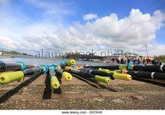 Over two thousand students from 73 universities around the country are expected to take part in the #BUCSregatta over three days at the National Water Sports Centre, Holme Pierrepont in Nottingham. The event is recognised as the largest student regatta in Europe. - Stock Image Photo Stock Images, Stock Photos, Three Days, Nottingham, Water Sports, Boats, Centre, Students, Europe