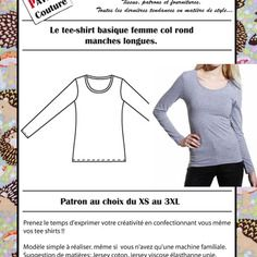 Patron tee-shirt femme col rond & manches longues