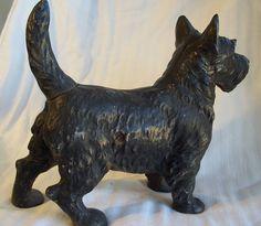 Vintage Scottie Dog Cast Iron Doorstop $215
