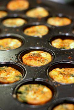 Spinach and Feta Mini Quiches