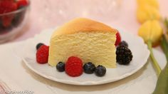 Scrumptious Cotton Cheesecake is a cross between sponge cake and cheesecake...