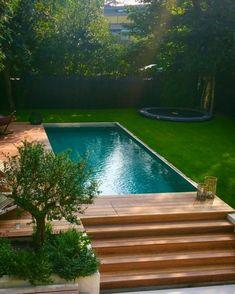 Modular pools are beautiful, eco friendly and quick to install! #modpools #poolgoals #swimmingpool #pools #wooddeck #backyard #pooldesign…