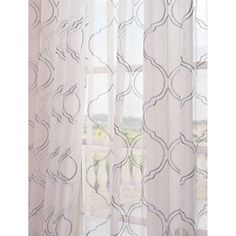 Exclusive Fabrics & Furnishing Florentina Embroidered Sheer Curtain