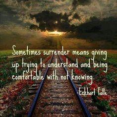 ♥️♥️♥️ Eckhart Tolle... • • • • • • • • • • • • • • • • • • • • #eckharttolle #eckharttollequotes #surrender #notknowing #acceptance…