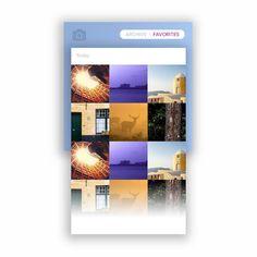 Favorites Panel  #day044 #100daysui #daily100 #dailyui #ui #photo #favorites #grid