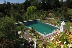 natural pool in difficult steep terrain