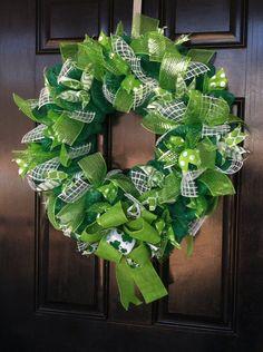 Deco mesh St. Pattys wreath