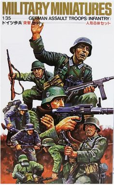 OHS Tamiya 35030 German Assault Troops Infantry Set Miniatures Assembly Military figures Model Building Kits TTH Tamiya Model Kits, Tamiya Models, Plastic Model Kits, Plastic Models, Ww2 Pictures, Model Building Kits, Military Figures, Thing 1, Military Modelling