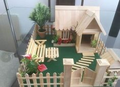 House Garden Kids Popsicle Sticks 24 Ideas House Garden Kids Popsicle Sticks 24 Ideas Best Picture For Miniature Garden kids For Your Taste You are looking for something, and it is goi Popsicle Stick Crafts House, Popsicle Sticks, Craft Stick Crafts, Wood Sticks Crafts, Craft Stick Projects, Resin Crafts, Home Crafts, Diy And Crafts, Crafts For Kids