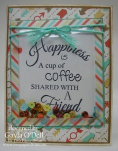 Coffee & Friends; Two Paper Divas – Fresh designs and simple styles