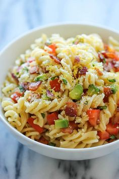 Bacon Avocado Pasta - Damn Delicious