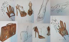 Fashion drawing by MSKPU student Aleksandra Ratajczyk during Fashion Illustration Course with Edyta Filipowicz, Valentino's illustrator.  MSKPU - International School of Costume and Fashion Design based in Warsaw, Poland  www.mskpu.com.pl