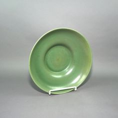 Red Wing Pottery Green Console or Large Bowl, Marked Red Wing USA  1592.  Vintage MCM 1958 by LiliesLegacies on Etsy
