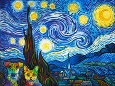 """""""Starry Night"""" with tourists 