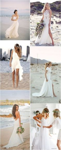 Beach Wedding Dresses » Top 22 Beach Wedding Dresses Ideas to Stand You out » ❤️ See more: http://www.weddinginclude.com/2017/04/top-beach-wedding-dresses-ideas-to-stand-you-out/