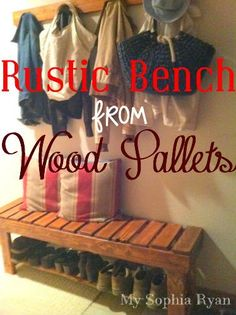 Rustic Bench Made From Wood Pallets DIY