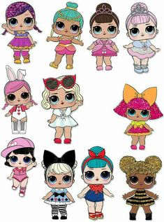 Party Kit, Party Ideas, Lol Doll Cake, Chibi Kawaii, Doll Party, Lol Dolls, Baby Birthday, Surprise Birthday, Cute Images