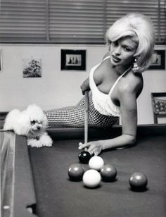 Consider, Busty girl playing pool are