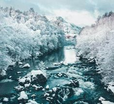 The Claunie river in Winter after a snow fall. See 28 Beautiful Photos of Scotland! #avenlylanetravel #scotland