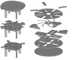 Expanding round table round table that expands expanding round table expanding circular table expanding round table buckylab how it works fletcher capstan table expanding round table plans fee amusing expandable round table plans of unique round expanding Diy Furniture Plans, Woodworking Furniture, Woodworking Projects, Expand Furniture, Woodworking School, Learn Woodworking, Teds Woodworking, Expanding Round Table, Capstan Table