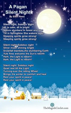 Earth Witch Daily: 13 days of Solstice, and a Silent Night, Pagan style.