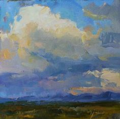 Julee Hutchison Summer Over the San Juan Mountains, 2011 oil on linen board 8 x 8 inches