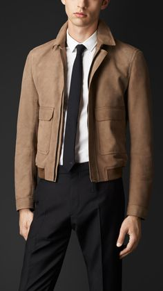 Shop our selection of jackets for men. Styles include field jackets, bikers, bomber jackets and puffer jackets in a variety of fabrics. Mens Fashion Suits, Mens Suits, Men's Fashion, Smart Casual Menswear, Men Casual, Blue Suit Outfit, Men's Leather Jacket, Leather Jackets, Basic Wear