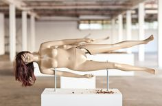 New York City-based artist Jennifer Rubell has created Nutcrackers, her 2011 art series of 18 life-size naked lady nutcracker sculptures. Each female mannequin is displayed sideways so that the legs can crush a nut (in this case, a Texas pecan) in the inner thigh.