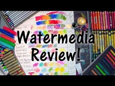 Watermedia Review: Paints, Pencils, Crayons & More! - YouTube