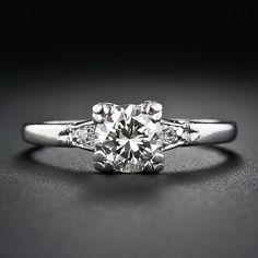 1.15 Carat Diamond and Platinum Vintage Engagement Ring