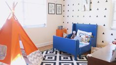 Nash's eclectic toddler room was inspired by, well, Nash! He is such a cool little dude. Full of a bright personality & he loves animals & adventure.